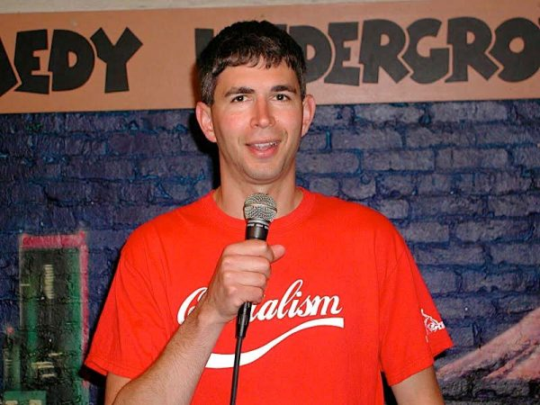 Yoram on stage at the Comedy Underground in Seattle